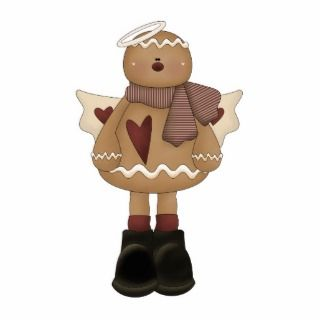 christmas angel gingerbread man photo cutout
