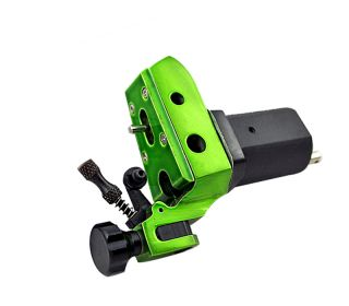 Green Heavy Duty Rotary Tattoo Machine Gun Aluminum Motor Shader Liner