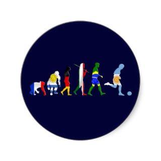 Evolution of Argentinian soccer Argentina futbol Round Sticker