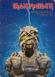 Iron Maiden 1984 World Slavery Tour Concert Program Book