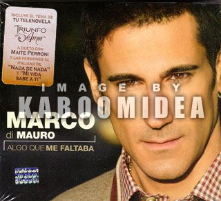 Marco Di Mauro Algo Que Me Faltaba CD Marta Perroni RBD