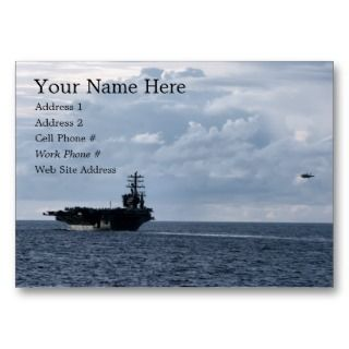 Aircraft Carrier Profile Card Business Card Template