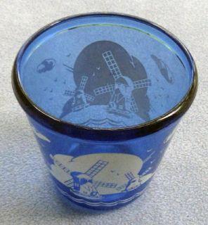 Hazel Atlas Moderntone Cobalt Glass Windmill Ice Bucket