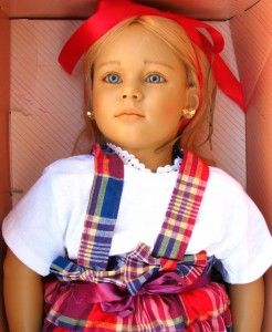 1988 Annette Himstedt Doll Malin World Children Puppen Kinden Original