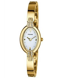 Pulsar Watch, Womens Gold Tone Stainless Steel Bracelet 19mm PEGF86