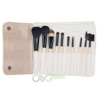 Eyeshadow Blush Cosmetic Makeup Brush Set High Quality Case 10