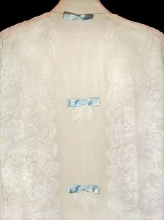 Lace Nightgown and Robe Peignoir Set Vtg Alice Maloof Mint