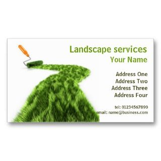 Lawn Garden Landscape Business Design Business Cards