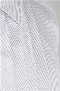 Auth Demark by Malene Birger Ruffle Tuxedo Style Dress Shirt Blosue 38