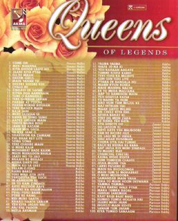 Indian Song DVD Queens of Legends Rekha Zeenat Aman Hema Malini