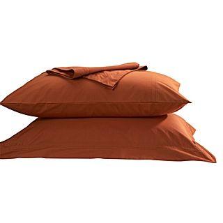 Christy Supreme bed linen in burnt orange