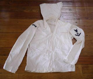 Navy Sailors Cracker Jack White Cotton Jumper Uniform ft Mandan