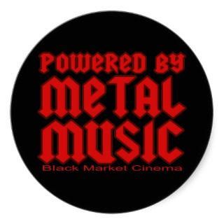 Powered by metal Music fans Death metal Stickers
