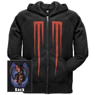 Marilyn Manson mm Nail Zip Up Hoodie