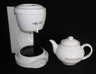 Mrs Tea Maker Tea Pot by Mr Coffee Drip Brewer Box Book 5 Cup MDL HTM1