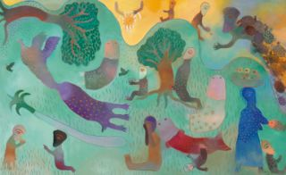 Cuban Latin America Manuel Mendive Original Painting