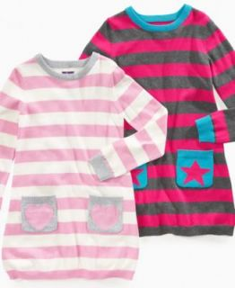 So Jenni Girls Dress, Little Girls Stripe Sweater Dresses