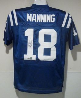 Peyton Manning Autographed Signed Indianapolis Colts Reebok Size 50