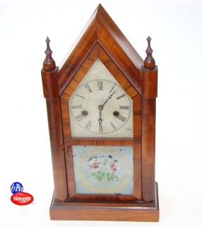 Antique E N Welch Forestville Conn Gothic Steeple Mantel Clock