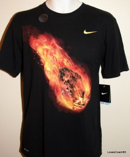 Nike Manny Pacquiao Meteor Black T Shirt 467765 010 Mens Size L New w