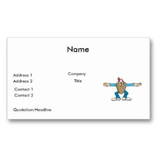 cartoon ump umpire calling SAFE Business Card Template