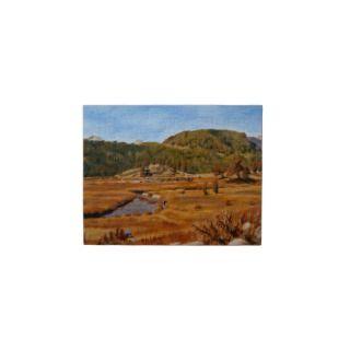 Estes Park Colorado Oil Landscape Painting Jigsaw Puzzle