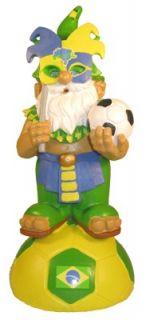 Brazil Soccer Football Lawn Garden Gnome Figurine Gnome
