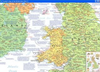 National Geographic 6 Vintage Maps of British Medieval History