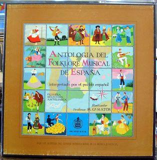 Antologia Del Folklore de España RARE 4LP Box 2 Books