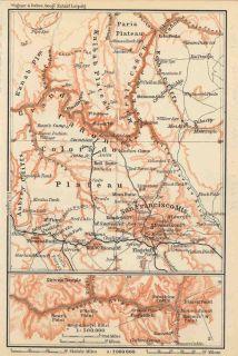 USA 1904 Arizona Grand Canyon Interesting Old Vintage Map