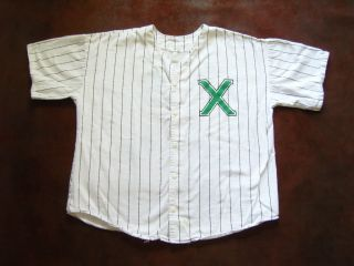 Vg 90s Malcolm x Baseball Jersey XL USA Made Hip Hop Spike Lee Cross