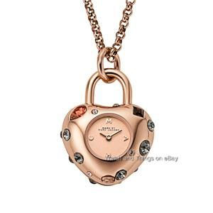 New Marc by Marc Jacobs Rose Gold Dexter Glitz Necklace Ladies Watch