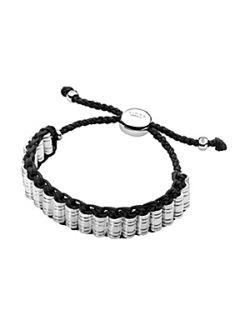 Links of London Venture Black Woven Bracelet