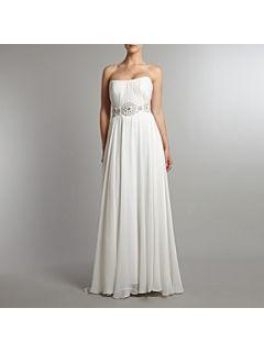 THEIA Silk chiffon goddess bridal dress White