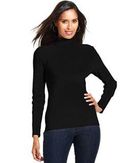 Karen Scott Petite Sweater, Long Sleeve Turtleneck
