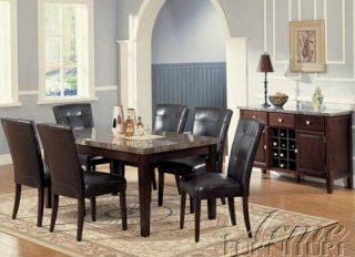 Brand New Real Marble Top Dining Set Table and 6 Chairs