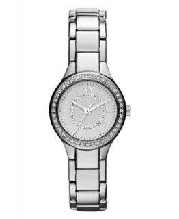 Armani Exchange Watch, Womens Stainless Steel Bracelet 28mm