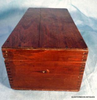 Antique w J Mandeville Seed Box Advertising Wooden Box