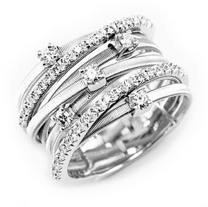 Marco Bicego  Goa  White Gold Diamonds Ring AG277 B2