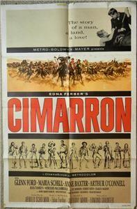 Glenn Ford Maria Schell Cimarron 1960 ORG Movie Poster 6290