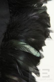 Maria Pinto Black Feathered Collar Accessory