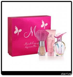 LUSCIOUS PINK by MARIAH CAREYS 3.3 oz edp 3 Pcs Gift Set NIB *