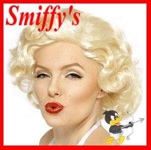 Official Smiffys Marilyn Monroe Bombshell Wig Fancy Dress Genuine