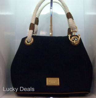 Michael Kors Marina Large Grab Handbag Bag Navy