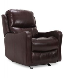Oliver Leather Power Recliner Chair, 31W x 39D x 39.5H