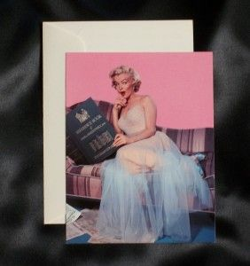 Marilyn Monroe Color Picture Postcard Envel White Dress Book Nice  N
