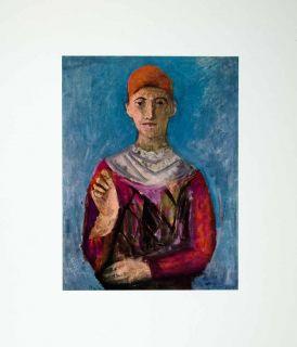 1963 Print Juggler Portrait Marino Marini Costume Circus Jester Man