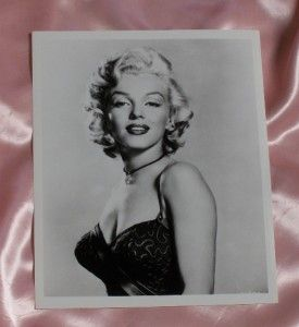 Marilyn Monroe Spaghetti Strap Dress Choker Necklace 8 x 10 Black