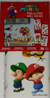 Super Mario Boy Girl Twin or Full Comforter Sheets Drapes Rug Wall