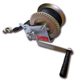 Marine Trailer Crank Hand Winch for Boats 1400 lbs with Strap Manual